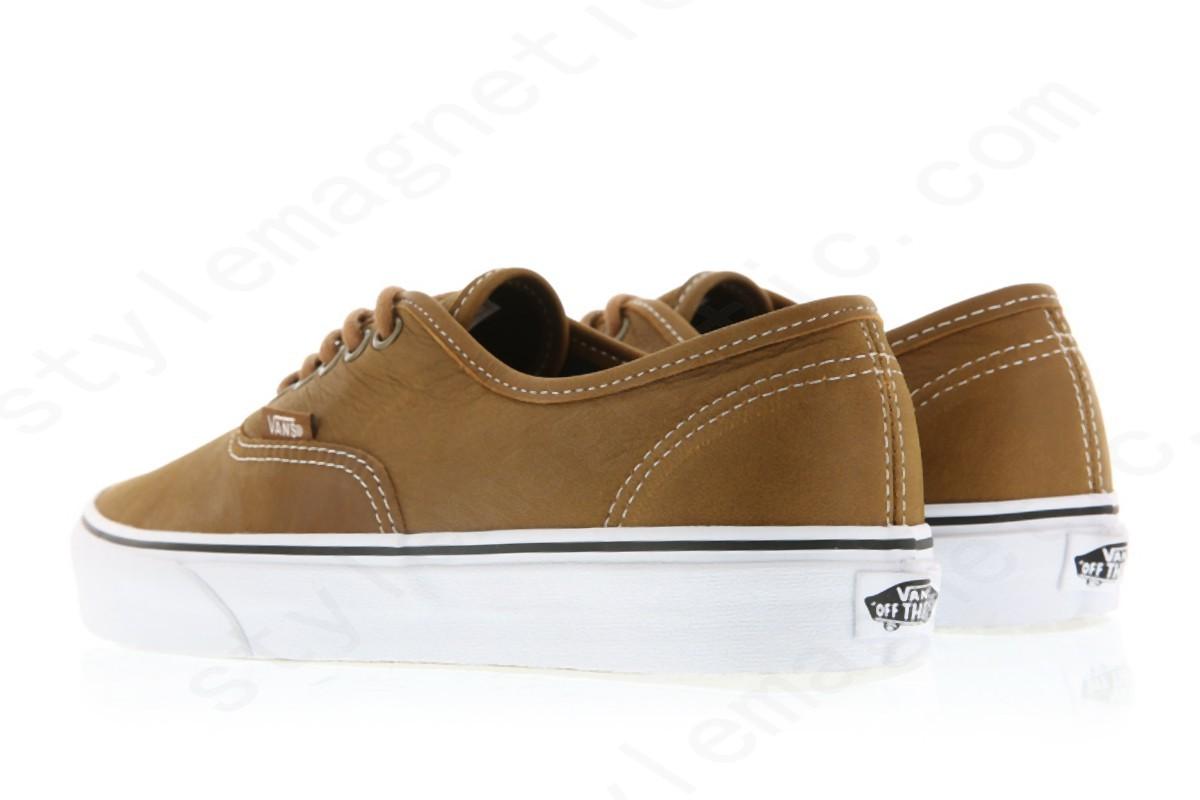 Mens Vans Authentic (Leather) Brown - -1