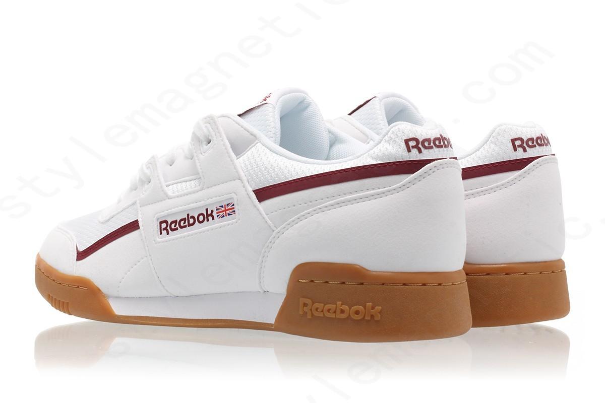 Mens Reebok Workout Plus Mvs White/maroon/chalk Gray - -1