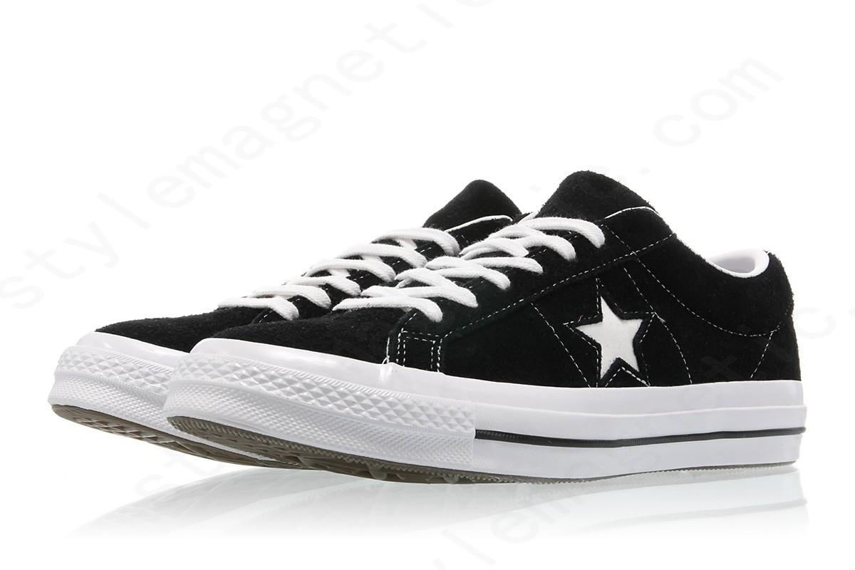 Mens Converse One Star Ox Black/white-White - -3
