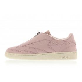 Women Reebok Club C Zip Pink/white/silver/chalk
